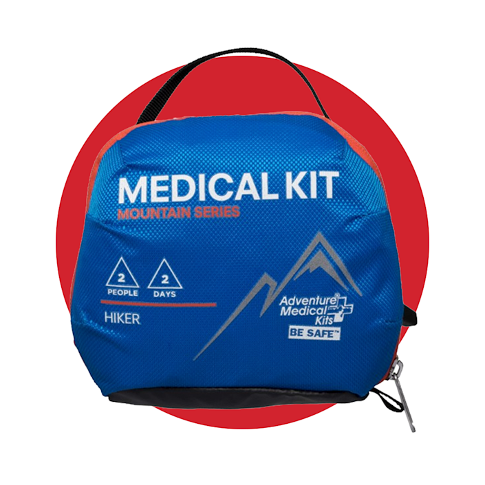 """<p><strong>Adventure Medical Kits</strong></p><p>rei.com</p><p><strong>$25.00</strong></p><p><a href=""""https://go.redirectingat.com?id=74968X1596630&url=https%3A%2F%2Fwww.rei.com%2Fproduct%2F113006&sref=https%3A%2F%2Fwww.menshealth.com%2Ftechnology-gear%2Fg36954813%2Fmens-health-outdoor-awards-2021%2F"""" rel=""""nofollow noopener"""" target=""""_blank"""" data-ylk=""""slk:BUY IT HERE"""" class=""""link rapid-noclick-resp"""">BUY IT HERE</a></p><p>Let's be honest, out in the wild (and especially if you're backpacking further into parks), you can never be too safe. Luckily, this hiking medical kit will have everything you need to take care of yourself or others, including scissors, insect bite relief, bandages, and more. </p>"""