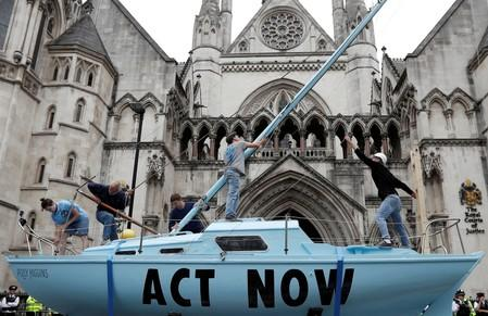 UK eco-activists banned from using boats in street protests