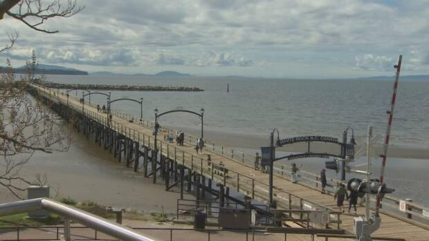 The pier in White Rock is a popular destination for locals and visitors.