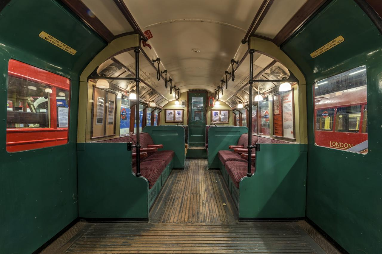 The Tube's train cars have changed dramatically in design over the years. This Standard Tube stock car, which is now on display at the London Transport Museum, was built in 1927. Trains of this type were used until the early 1960s.