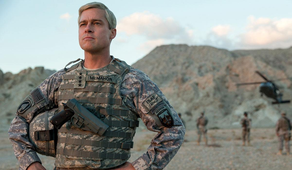 <p>Starring: Brad Pitt, Anthony Michael Hall, Topher Grace, Will Poulter, Tilda Swinton.<br /> An upcoming satirical war movie, 'War Machine' sees Brad Pitt heading to Afghanistan… and while he's supposed to be heading out to end the war, he soon finds himself under fire.<br /> (Photo Credit: Netflix) </p>
