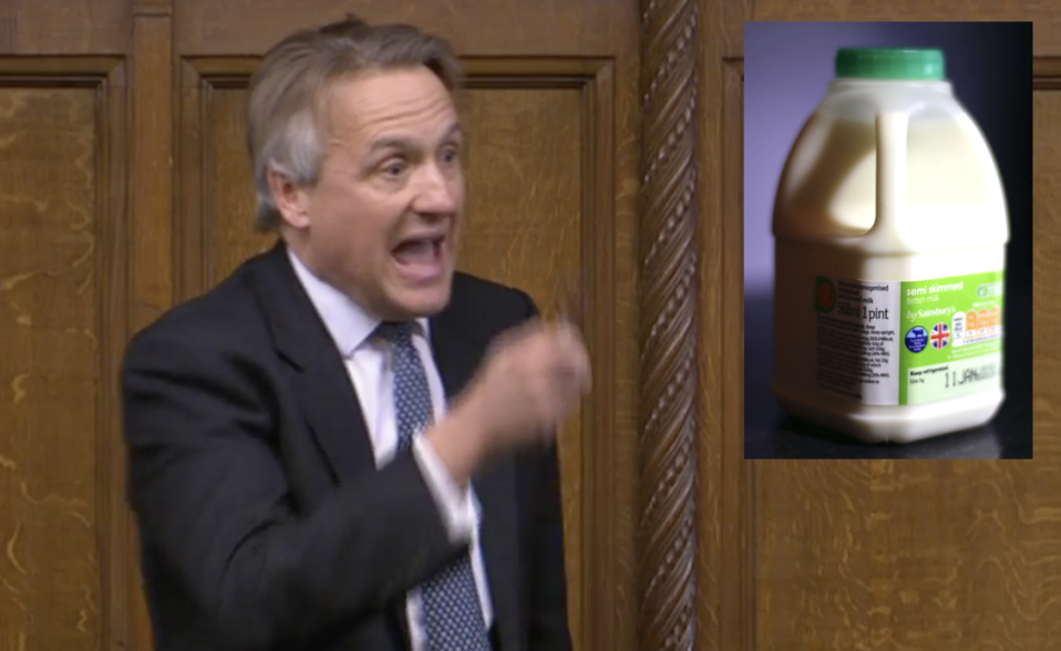 Sir Charles Walker has announced he is going to protest around London with a pint of milk. (Parliamentlive.tv/PA)