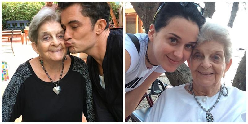 Katy Perry Orlando Bloom and her grandmother