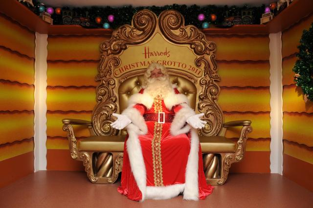 Tradition: Many families look forward to bringing their children to the Harrods Santa's grotto every year. (Getty)