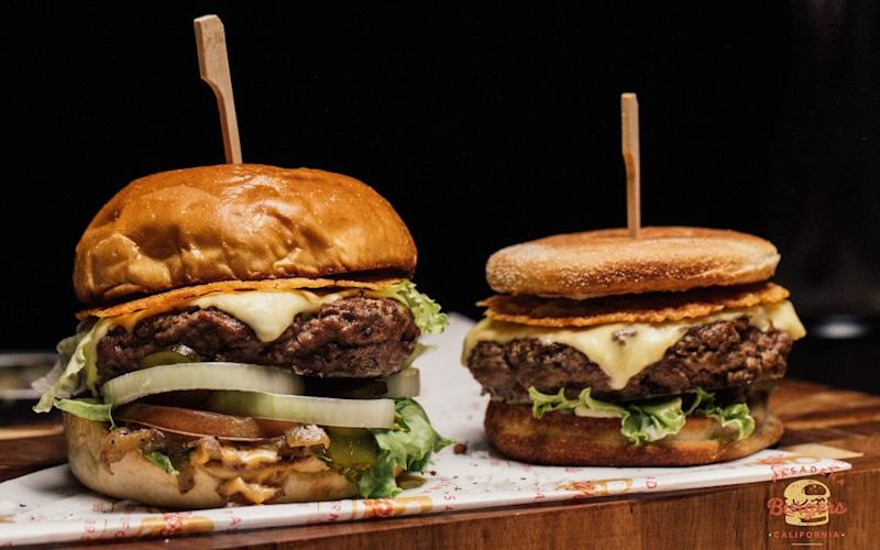 Classic California Cheeseburger, at left, and Dipping Burger. Photo: Elliot Communications