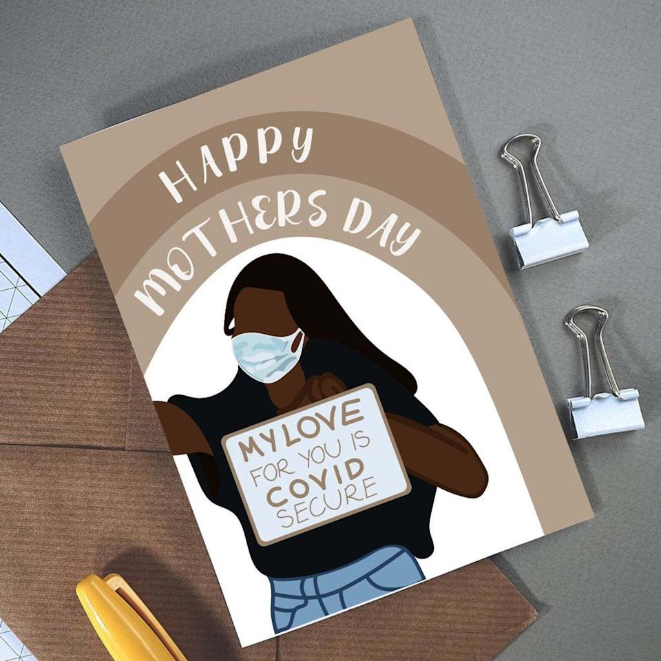Love is Covid Secure, Mother's Day, Etsy (Photo: Etsy)
