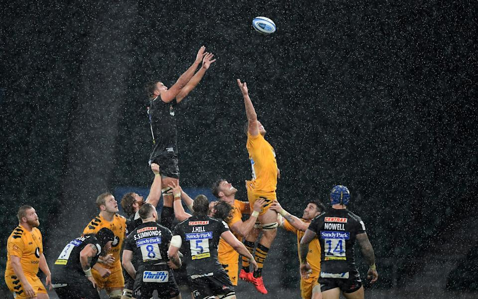 Sam Skinner wins a line out for Exeter  - GETTY IMAGES