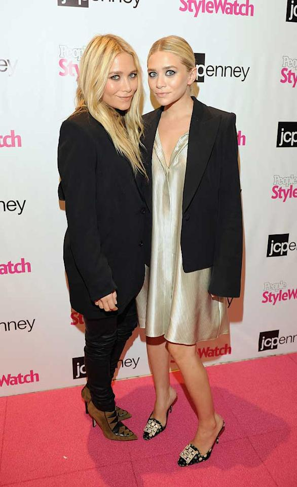 """What's a fashion event without the semi-smiling Olsen twins? Child actors-turned-gazillionaires Mary-Kate and Ashley Olsen hit up the JCPenney and People StyleWatch's """"Miss for a Must"""" event in Manhattan. Dave Kotinsky/<a href=""""http://www.gettyimages.com/"""" target=""""new"""">GettyImages.com</a> - September 8, 2011"""
