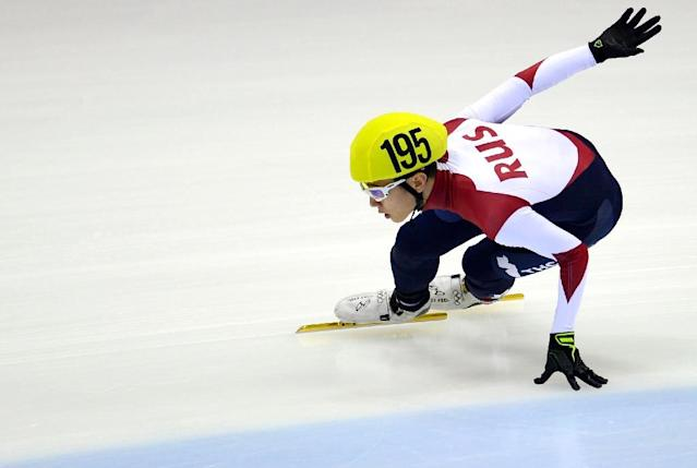 Russia's speed skating star Victor An has been banned from the Pyeongchang Winter Games after being implicated in a state-sponsored doping scandal (AFP Photo/ROBERT MICHAEL)