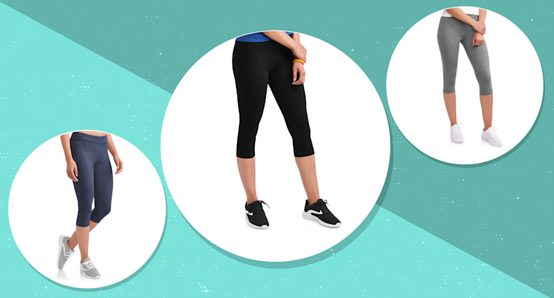 These $7 Athletic Works Capri Leggings are a best-seller at Walmart with over 1,000 near-perfect reviews. (Photo: Walmart)