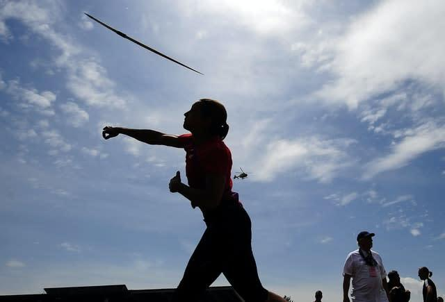 Ennis set a personal best in the javelin (John Giles/PA)