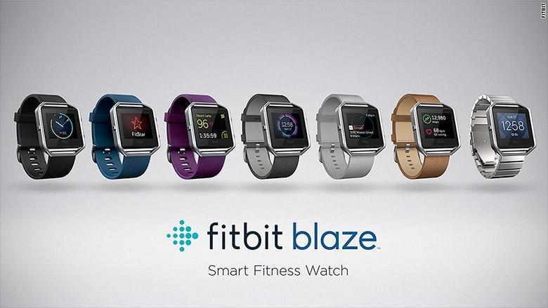 The Fitbit Blaze come with a huge array of strap colours