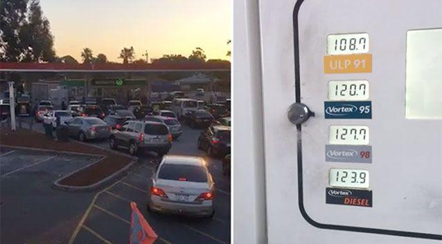 Peak hour at the petrol pump. Source: Edward Kinnane