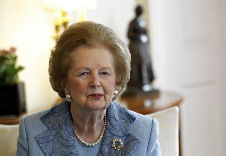 """Former Prime Minister Baroness Margaret Thatcher at 10 Downing Street in London on June 8, 2010. Former prime minister Margaret Thatcher, the controversial """"Iron Lady"""" who shaped a generation of British politics and was a pivotal figure in the Cold War, died following a stroke on Monday. She was 87"""