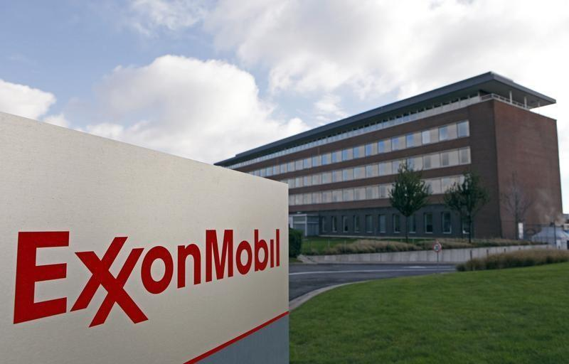 The Belgian headquarters of oil giant ExxonMobil, where Britain's Nicholas Mockford worked, is pictured in Machelen