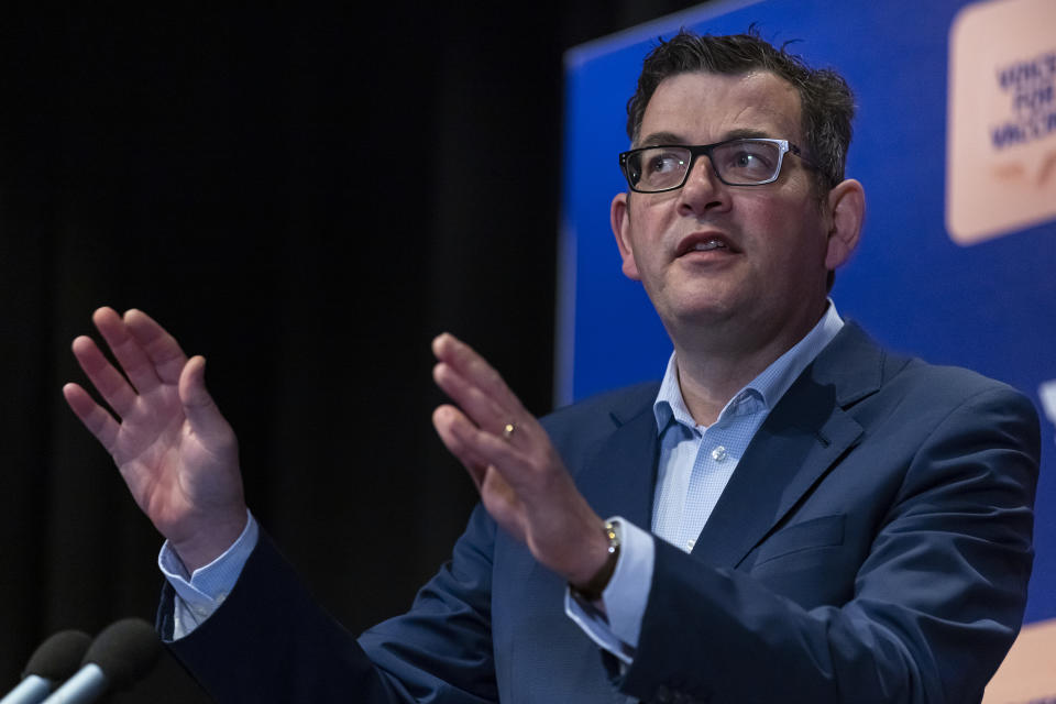 Victorian Premier Daniel Andrews speaks to the media during a press conference in Melbourne. Source: AAP