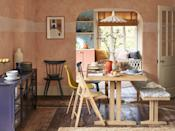 """<p>As part of the store's Modern Mediterranean trend, you'll find colours, fabrics and accessories that complement every interior scheme. We love this dining room table and matching bench, which is perfect for creating a welcoming zone. </p><p><a class=""""link rapid-noclick-resp"""" href=""""https://go.redirectingat.com?id=127X1599956&url=https%3A%2F%2Fwww.johnlewis.com%2Fbrowse%2Fhome-garden%2Fnew-in-home%2F_%2FN-7opk&sref=https%3A%2F%2Fwww.housebeautiful.com%2Fuk%2Flifestyle%2Fshopping%2Fg35369005%2Fjohn-lewis-partners-homeware-spring-summer%2F"""" rel=""""nofollow noopener"""" target=""""_blank"""" data-ylk=""""slk:SHOP NOW"""">SHOP NOW</a></p>"""