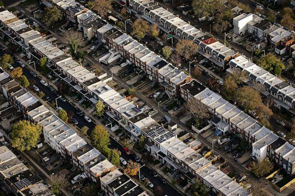 PHOTO: Row houses line streets in an aerial photograph taken above Washington, D.C., Nov. 4, 2019. (Bloomberg via Getty Images, FILE)