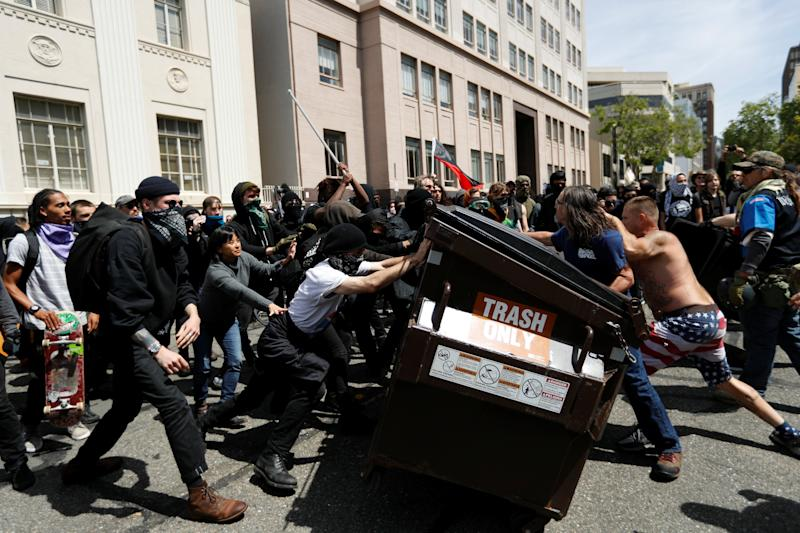 At Least 4 Arrested in Berkeley at Pro and Anti-President Trump Rallies