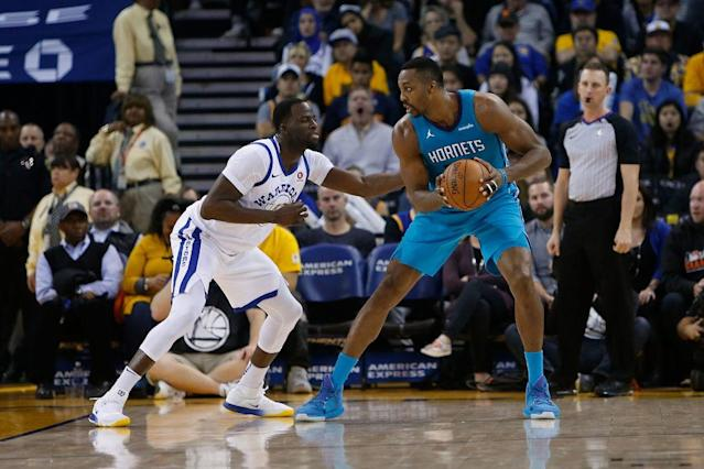 "<a class=""link rapid-noclick-resp"" href=""/nba/players/3818/"" data-ylk=""slk:Dwight Howard"">Dwight Howard</a> put up 29 points, 13 rebounds and seven assists against the <a class=""link rapid-noclick-resp"" href=""/nba/teams/gsw"" data-ylk=""slk:Warriors"">Warriors</a> on Dec. 29. (Getty Images)"