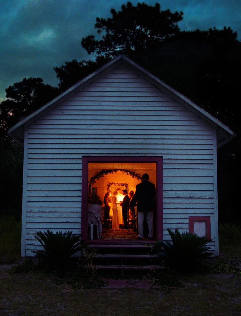 The First African Baptist Church on Georgia's Cumberland Island, where JFK Jr. and Carolyn Bessette exchanged vows. (Denis Reggie)