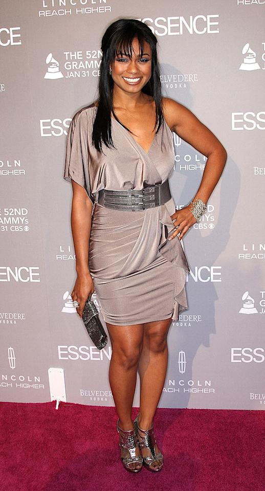"""Former """"Fresh Prince of Bel-Air"""" star Tatyana Ali accessorized with a multitude of metallic pieces, which helped distract from her disastrous 'do. Frederick M. Brown/<a href=""""http://www.gettyimages.com/"""" target=""""new"""">GettyImages.com</a> - January 27, 2010"""