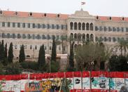 A view shows the government palace in Beirut