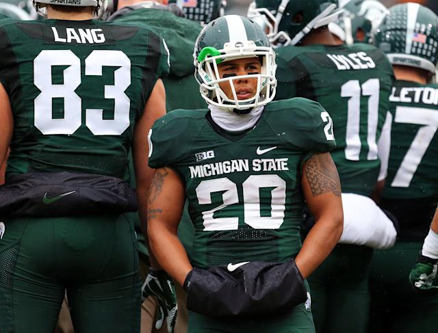Watch Michigan State RB Nick Hill pull a spin move for a touchdown (GIF)