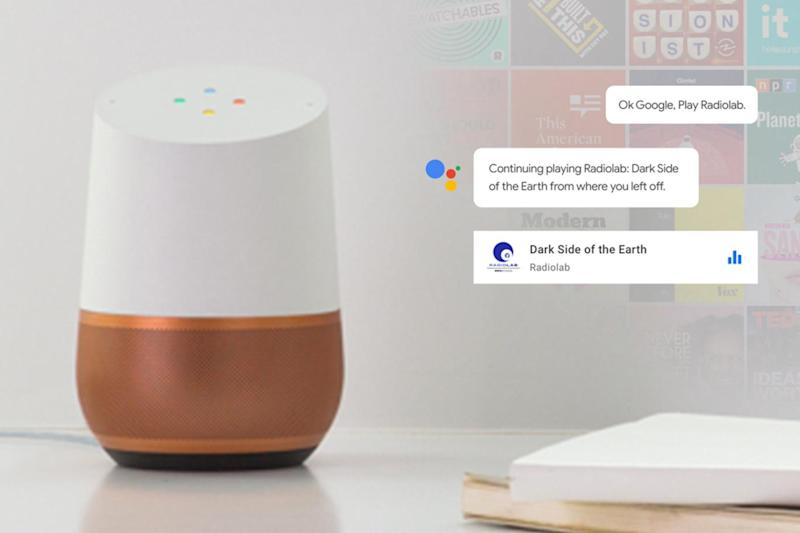 You can now listen to podcasts on the Google Home (Google)