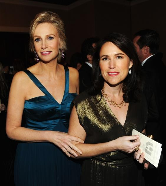 Jane Lynch and Lara Embry attend the 70th Annual Golden Globe Awards Cocktail Party held at The Beverly Hilton Hotel on January 13, 2013 -- Getty Images