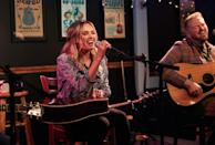 <p>Singer/songwriter Carly Pearce performs at the famed Bluebird Cafe in Nashville on Thursday.</p>