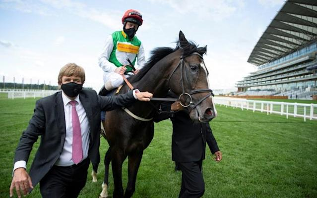 Pyledriver's win in the King Edward VII Stakes was a family affair (AFP Photo/Edward Whitaker)
