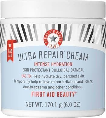 <p>You can't go wrong with this beloved <span>First Aid Beauty Ultra Repair Cream Intense Hydration Face &amp; Body Moisturizer</span> ($16–$36). It's a fast-absorbing yet rich moisturizer that provides long-term hydration and nourishment. It's a great option for those with ezcema-prone or reactive skin. </p>