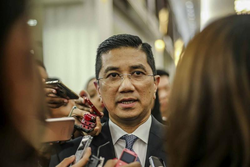 Azmin said that the project will be resumed once the two-year moratorium expires. — Picture by Firdaus Latif
