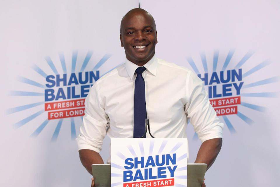 <p>Man with a plan: Shaun Bailey unveils his mayoral manifesto</p> (PA)