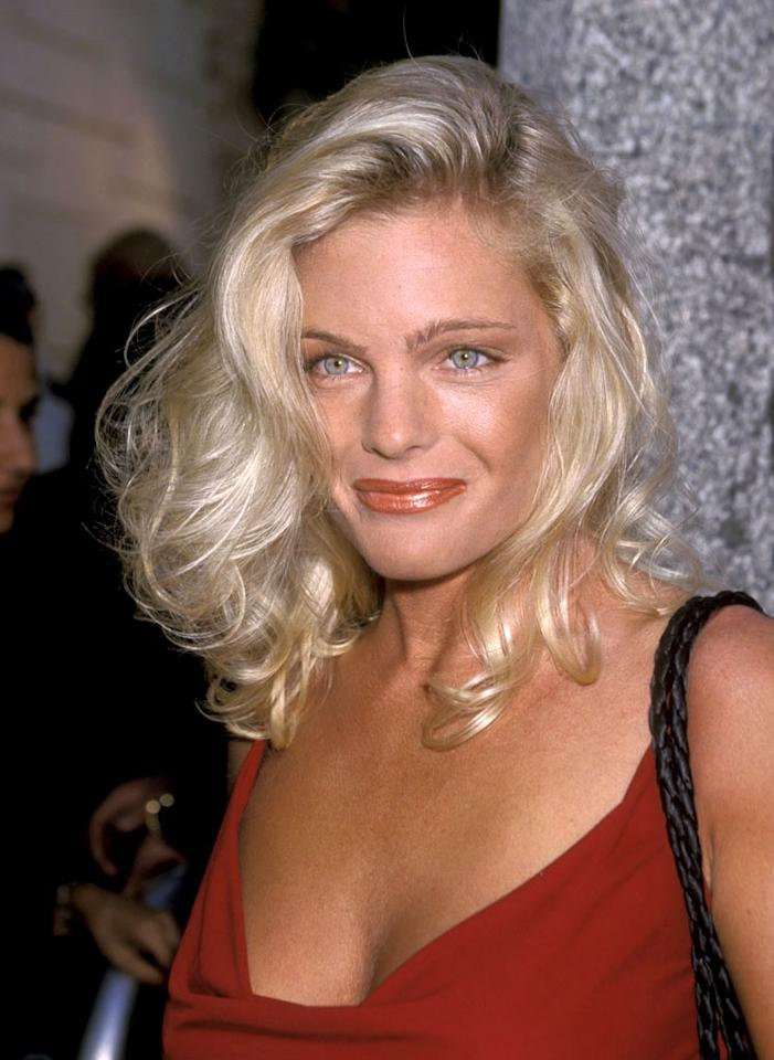 """For those counting, actress Erika Eleniak was the third blond """"Baywatch"""" babe the busy bachelor dated (Nicole Eggert and Pamela Anderson were the first two). Ron Galella/<a href=""""http://www.wireimage.com"""" target=""""new"""">WireImage.com</a> - August 11, 1999"""