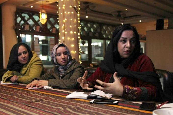 Afghan film producer and director Roya Sadat has been writing stories, poems and plays since she was a little girl (AFP Photo/Mariam ALIMI)