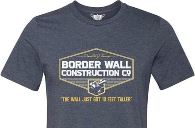 The pro-Trump border wall T-shirt that resulted in a student's suspension. (Photo: Court document)
