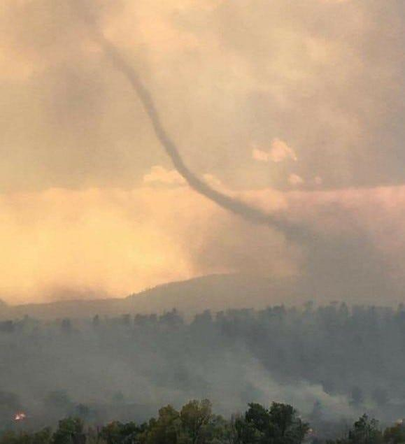 Lorri Provow of Masonville took this photo of a smokenado behind the Masonville Post Office on Oct. 17, 2020.
