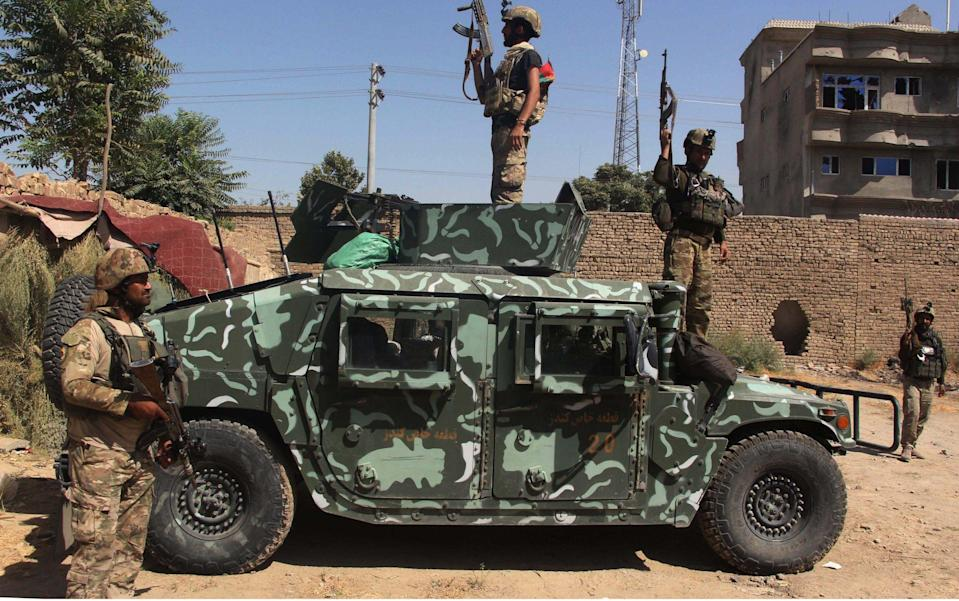 Afghan security forces have been struggling to fend off the Taliban's advances