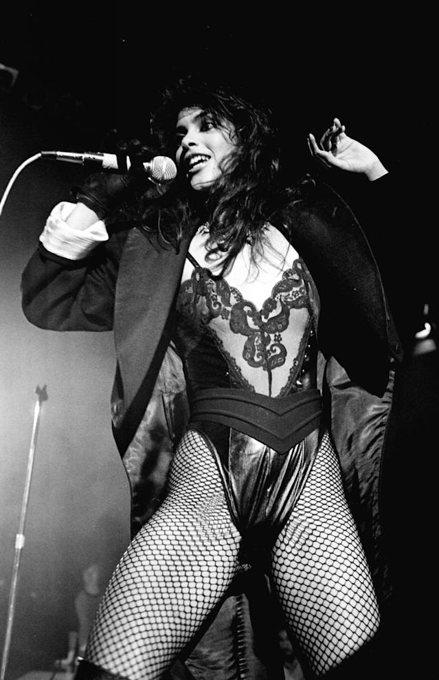 "<p>Vanity, a singer-model-actress best known for her time touring with Prince, died at 57 on February 15. She turned away from her Hollywood lifestyle and towards Christianity in the mid-1990s, after suffering a near-fatal overdose. — (Pictured) Vanity, known as Denise Matthews performs with the group Vanity 6 on the TV Show ""Solid Gold"" in 1983. (Ron Wolfson/WireImage via Getty Images) </p>"