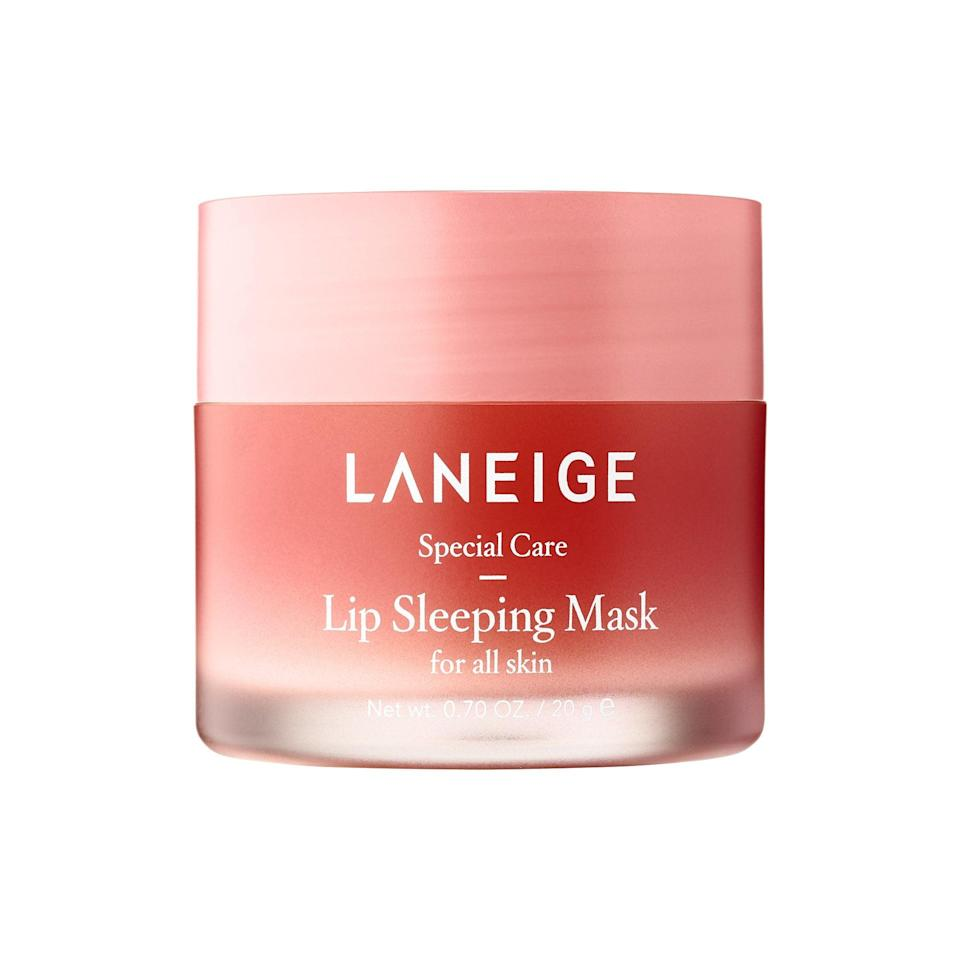 <p>Swipe on this <span>Laneige Lip Sleeping Mask</span> ($20) before bed, and wake up with seriously supple lips. It's also a great lip topper.</p>