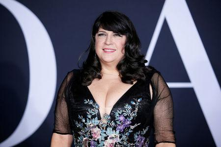"FILE PHOTO - Author E.L. James poses at the premiere of the film ""Fifty Shades Darker"" in Los Angeles, California, U.S. on February 2, 2017. REUTERS/Danny Moloshok/File Photo"