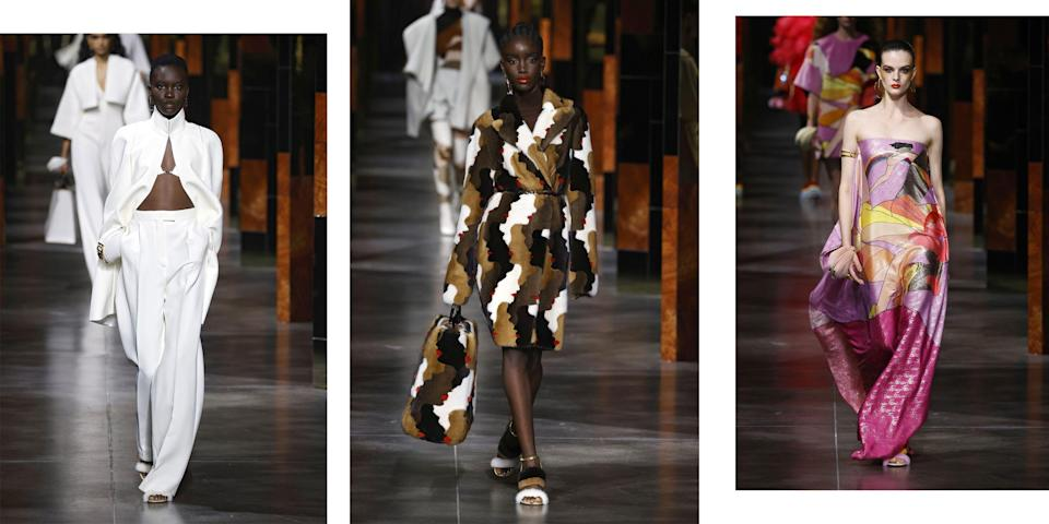 <p>Fendi, Gucci, Prada, so many vowels, so many good looks to choose from. BAZAAR does the hard work for you, distilling the shows down to their essence with 5 standout looks from each of the major collections. See what's happening on the runways of Milan this week. </p>