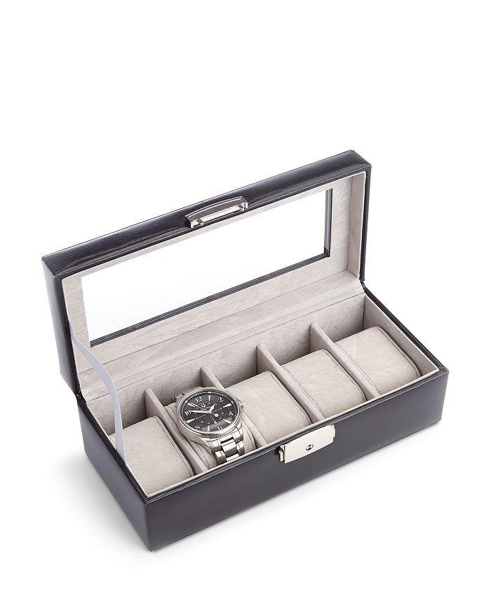 """If he has an impressive timepiece collection, here's a stylish watch box that comes in three different leather finishes. $160, Bloomingdales. <a href=""""https://www.bloomingdales.com/shop/product/royce-new-york-aristo-leather-five-slot-watch-box-display?ID=2740665&CategoryID=3865"""" rel=""""nofollow noopener"""" target=""""_blank"""" data-ylk=""""slk:Get it now!"""" class=""""link rapid-noclick-resp"""">Get it now!</a>"""