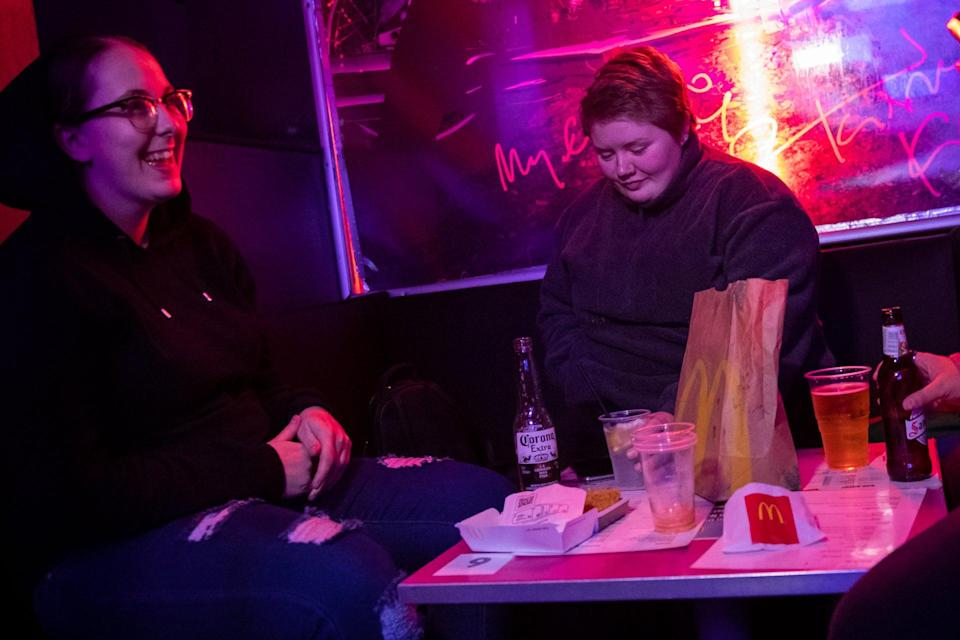 <p>The bar is serving food from other restaurants including McDonald's </p>PA