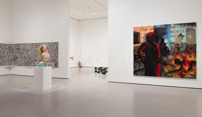 Installation view of <i>Downtown New York</i> (Gallery 202), The Museum of Modern Art, New York.