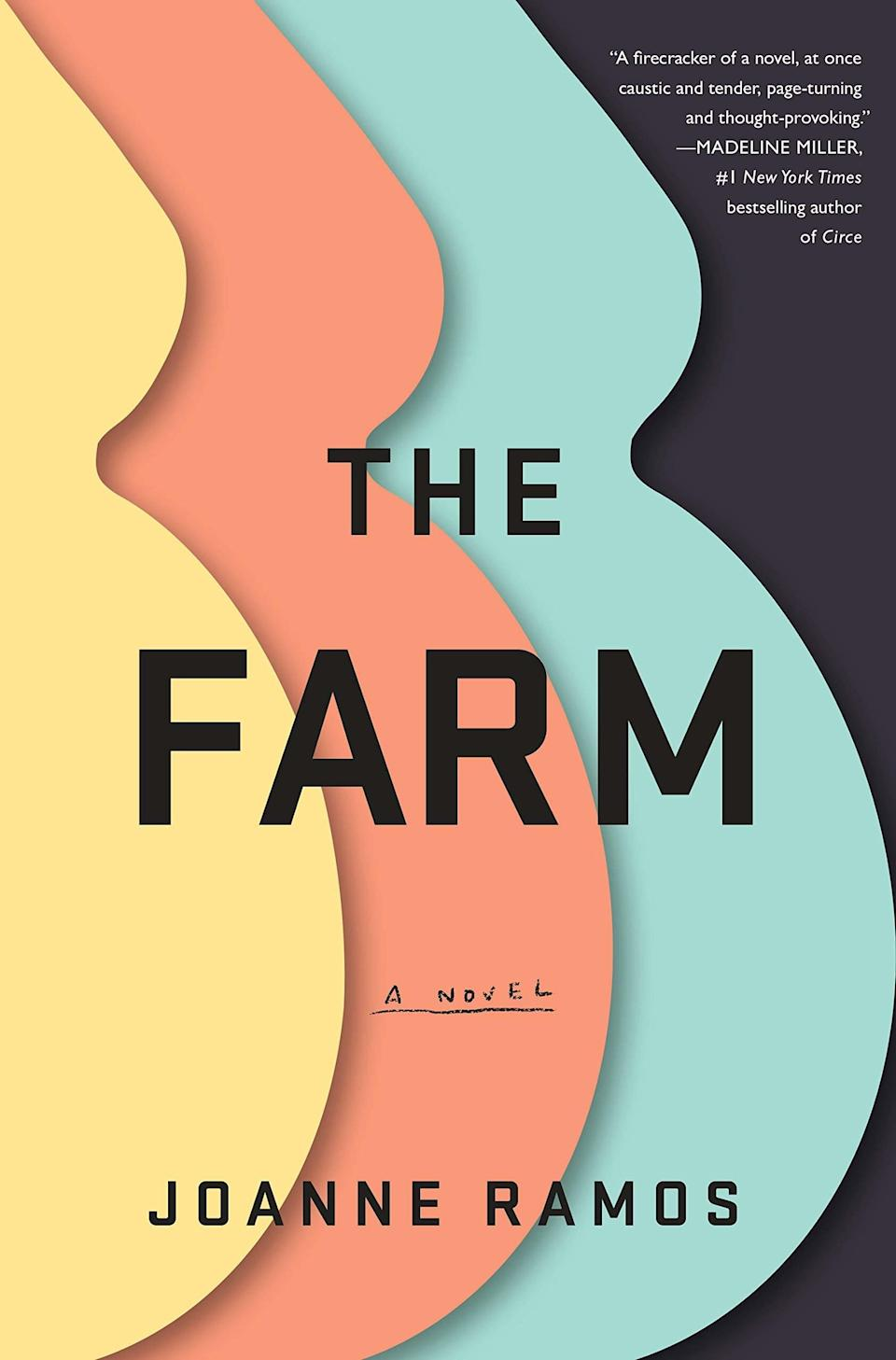 """<em>The Farm</em> is what the world of the <em><a href=""""https://www.glamour.com/about/the-handmaids-tale?mbid=synd_yahoo_rss"""" rel=""""nofollow noopener"""" target=""""_blank"""" data-ylk=""""slk:The Handmaid's Tale"""" class=""""link rapid-noclick-resp"""">The Handmaid's Tale</a></em> would be like if Serena Joy, Aunt Lydia, and the gang suddenly started reading <a href=""""https://goop.com/"""" rel=""""nofollow noopener"""" target=""""_blank"""" data-ylk=""""slk:Goop"""" class=""""link rapid-noclick-resp"""">Goop</a>. This novel is set at a luxury retreat where for nine months you're given organic meals, trainers, and daily massages. Imagine CBD and yoni eggs galore. There's just one catch: You're carrying the perfect baby—for someone else. Oh, and you also can't leave or talk to people in your former life, and you're always being watched. Blessed be the fruit."""