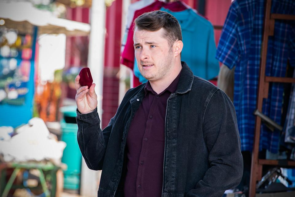 WARNING: Embargoed for publication until 00:00:01 on 15/06/2021 - Programme Name: EastEnders - April-June 2021 - TX: 21/06/2021 - Episode: EastEnders - April-June 2021- 6293 (No. 6293) - Picture Shows: ***EMBARGOED TILL TUESDAY 15TH JUNE 2021*** Ben Mitchell (MAX BOWDEN) - (C) BBC - Photographer: Kieron McCarron/Jack Barnes