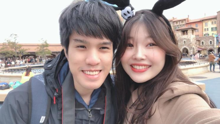 Patcharee Rattarangsee and her South Korean boyfriend. Photo: Courtesy Love is Not Tourism